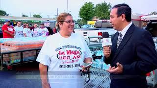 La Mega 100.5 FM. se hace presente para ayudar a los damnificados en Houston Texas