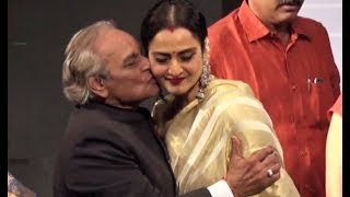 Rekha Kissed Forcefully By Anandji - Bollywood Actress Kiss Scene