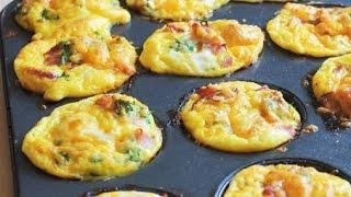 طريقة عمل مافن البيض بالخضروات : عبير