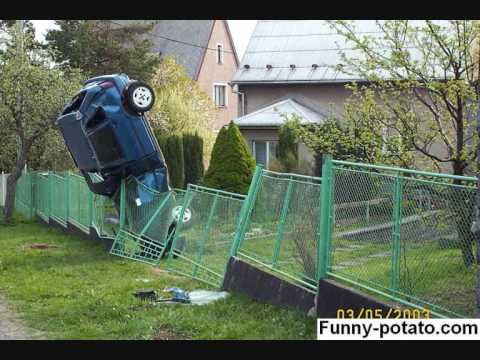 Funny car crashes and accidents