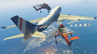 getlinkyoutube.com-Mission Impossible: Mid-air Plane Hijack! (GTA 5 Funny Moments)