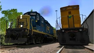 getlinkyoutube.com-Some CSX trains in Train Simulator 2017