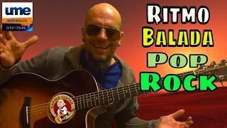 Como tocar RITMO de BALADA POP ROCK en GUITARRA; Tutorial Facil para Principiantes