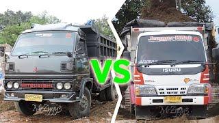 getlinkyoutube.com-Dump Truck Isuzu Elf HD 125PS VS Mitsubishi Colt Diesel 100PS