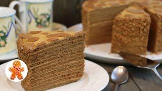 """getlinkyoutube.com-Медовый торт """"Коровка"""""""