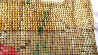 getlinkyoutube.com-Как вышивать бисером? Процесс вышивки ( для новичков )