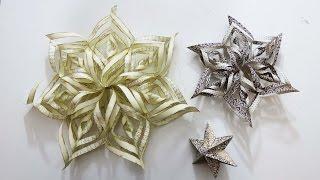 getlinkyoutube.com-Weihnachtsdeko * 3D Weihnachtssterne basteln