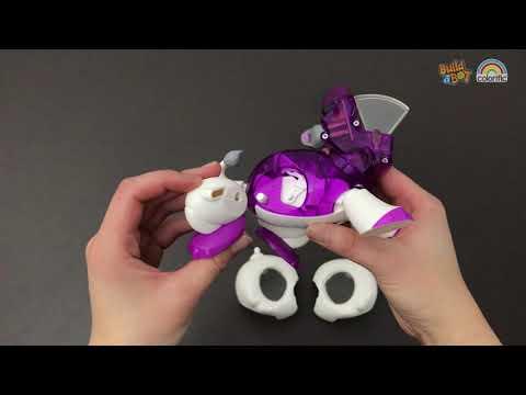 Build a Bot Light Snow Leopard