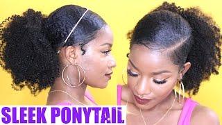 getlinkyoutube.com-How to | Sleek Low Ponytail on Natural Hair
