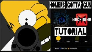 getlinkyoutube.com-Black Ops 2 - Homers Gotta GUN Homer Emblem Tutorial ( The Simpsons ) Playercard Call of Duty II