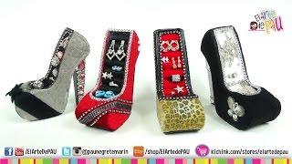 getlinkyoutube.com-4 Diseños de Zapato Alhajero / High Heel Jewelry Holde