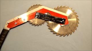 getlinkyoutube.com-Homemade Weapons Part 3: Saw Blade Battleaxe/Armored Wasteland Jacket