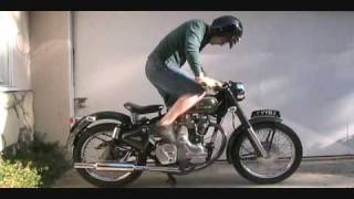 getlinkyoutube.com-How To Kick Start A Royal Enfield Bullet 500 Classic Motorcycle With An Amal 930 Carb