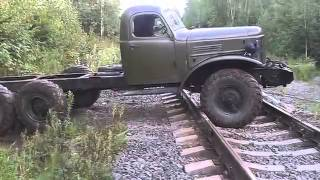 getlinkyoutube.com-Старый автомобиль Зил 157 ездит по бездорожье, военная техника