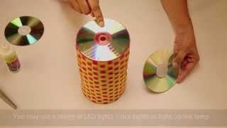 getlinkyoutube.com-Recycled Lamp With Old CDs