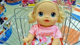 getlinkyoutube.com-Куклы Пупсики Беби Элайв идем в магазин, игрушки Тайная жизнь Домашних Животных. Baby Born Зырики ТВ