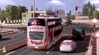 Euro Truck Simulator 2 Bus trip with Marcopolo G7 1800DD Volvo part1