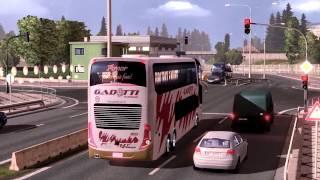 getlinkyoutube.com-Euro Truck Simulator 2 Bus trip with Marcopolo G7 1800DD Volvo part1