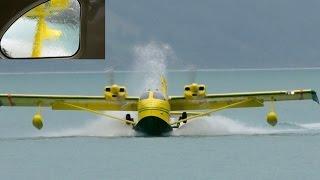 getlinkyoutube.com-Amphibious Flying Boat STOL UC-1 Twin Bee * Flight from Interlaken!