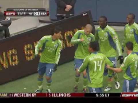 Seattle Sounders - 03-19-09 - Freddie Montero Goal