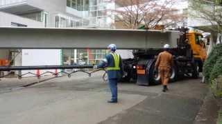 getlinkyoutube.com-野田クレーン ポールトレーラー    Pole trailer