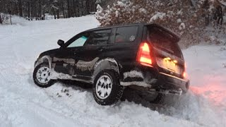getlinkyoutube.com-Subaru Forester Off Roading - Snow Hooning January 2015
