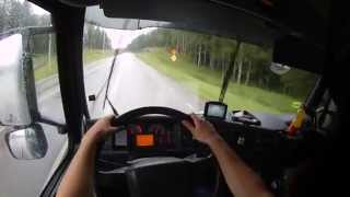 getlinkyoutube.com-Dangerous Truck Driving - GoPro first person view, (POV) HD 60fps 2015 How To #Real Life