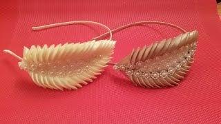 getlinkyoutube.com-Ободок Канзаши к Вечернему Платью Kanzashi Headband ✔ Marine DIY✔