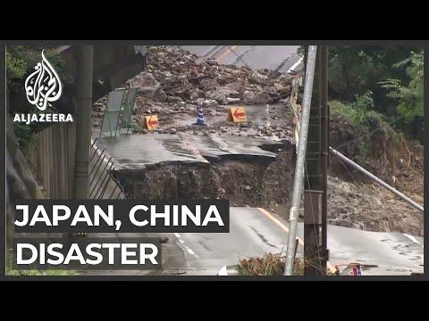 AlJazeera English:China, Japan hit by devastating floods, mudslides