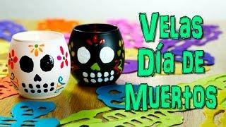 getlinkyoutube.com-Velas para Halloween y Día de Muertos| Manualidades para Halloween | Catwalk
