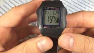 getlinkyoutube.com-Обзор наручных часов Casio F-201W-1A - видео от PresidentWatches