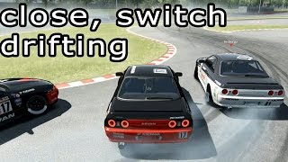 Close tandem Drifting & switching with Naoki Nakamura - Epic Skills, Assetto Corsa - online.