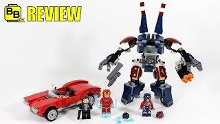 getlinkyoutube.com-LEGO MARVEL IRON MAN DETROIT STEEL STRIKES 76077 SET REVIEW