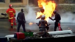 "getlinkyoutube.com-Stunt Show Spectacular on LIVE ""Moteur Action"" Disneyland Resort Paris/ Spectacle de Cascades /ep:5"