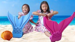 getlinkyoutube.com-Mermaid Tail Unboxing Kids & Bath Magic Water Balloon Banggood ❤ Ekor Putri Duyung @lifiatubehd
