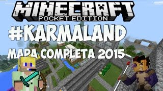 getlinkyoutube.com-Mapa de Karmaland completo Para Minecraft Pocket Edition 0.14.0/0.14.X