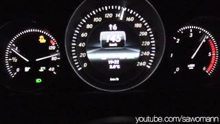 getlinkyoutube.com-2013 Mercedes-Benz C 250 CDI 204 HP 0-100 km/h & 0-100 mph Acceleration