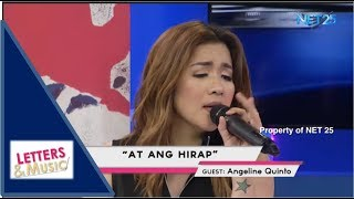 ANGELINE QUINTO - AT ANG HIRAP (NET25 LETTERS AND MUSIC)