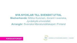Forskartorget 2017 - Nya nycklar till svenskt uttal