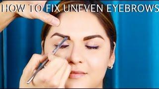 getlinkyoutube.com-How to FIX Uneven Brows Pro Makeup Tutorial Step by Step - mathias4makeup