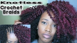getlinkyoutube.com-How To: Install Knotless Crochet Braids