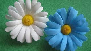 getlinkyoutube.com-Цветы из фоамирана - ромашки МК./How to make Foam Flower camomile , DIY, Tutorial Foam