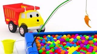 getlinkyoutube.com-Fishing: learn colors with Ethan the Dump Truck | Educational cartoon for children
