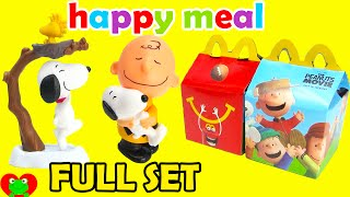 getlinkyoutube.com-2015 McDonalds Happy Meal Toys Peanuts Movie with Snoopy Full Set