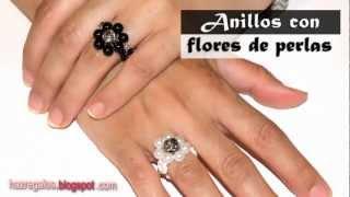 getlinkyoutube.com-Anillo con Flores de Perlas - DIY - Bead Flower Ring