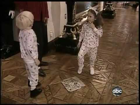 Michael Jackson with his kids home video