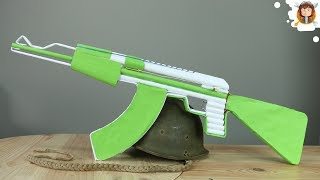 How To Make A Fully Automatic Paper Ak 47 That Shoots