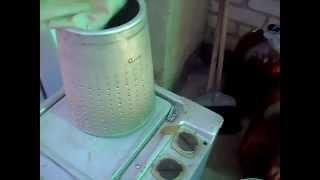 getlinkyoutube.com-цинтрифуга из стиральной макшины, отжим яблочного жмыха