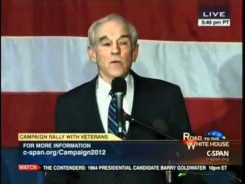 Ron Paul speech at Salute to Veterans Campaign Rally 12-28-11