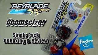 getlinkyoutube.com-Beyblade Burst by Hasbro - DOOMSCIZOR Single Pack Unboxing & Review